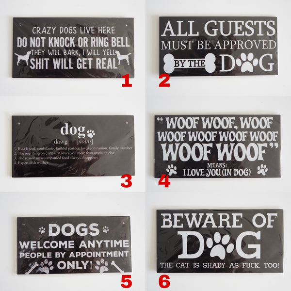 Limited Wood Door Plague Style 3 | Human | shopthepaw - Shop The Paws