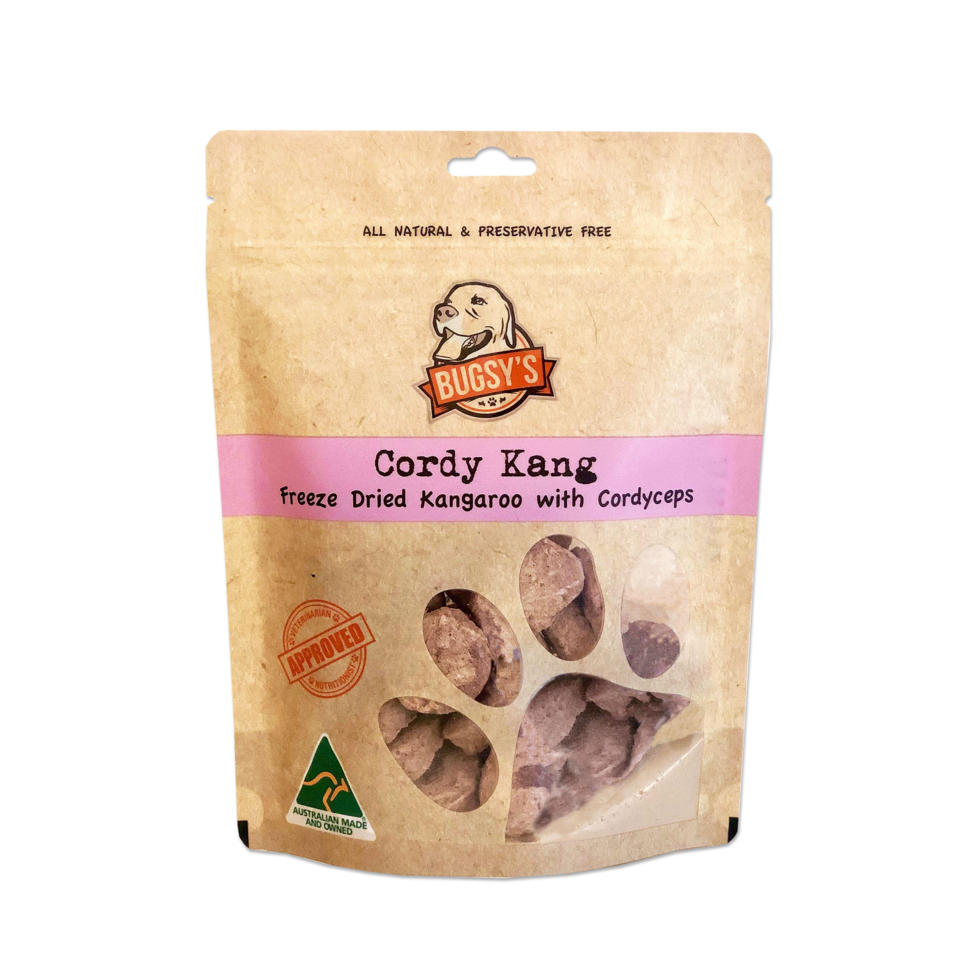 Bugsy's Cordy Kang - Kangaroo with Cordyceps Dog Treats | Treats | Bugsy's - Shop The Paws