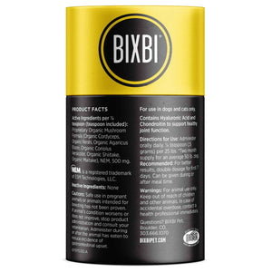 Bixbi Organic Mushroom Joints Supplement for Cats & Dogs | Supplement | Bixbi - Shop The Paws