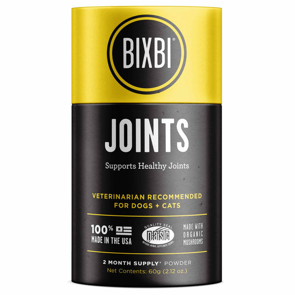 Bixbi Organic Mushroom Joints Supplement for Cats & Dogs