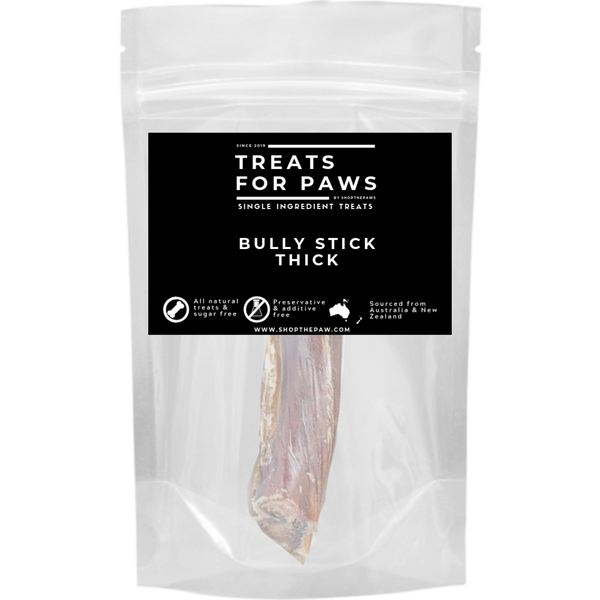 Treats For Paws - Thick Bully Stick | Treats | TreatsForPaws - Shop The Paws