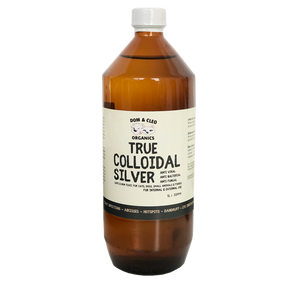 Dom & Cleo Organics True Colloidal Silver (2oz/60ml) | Supplement | Dom & Cleo - Shop The Paws