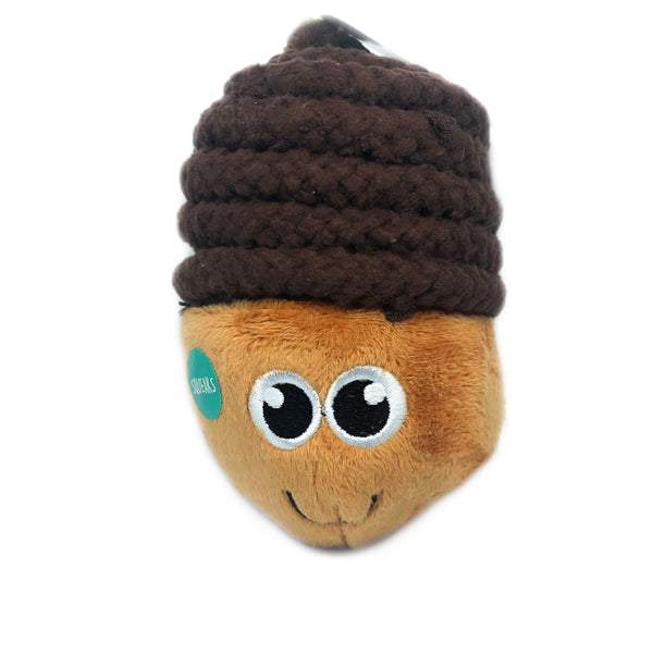TOP PAW Acorn Rope Plush Toy