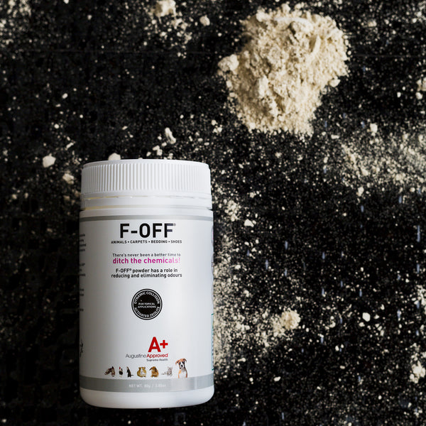 Augustine Approved F-Off Odour & Pest Relieving Zeolite Powder (80g) | Grooming | Augustine Approved - Shop The Paws
