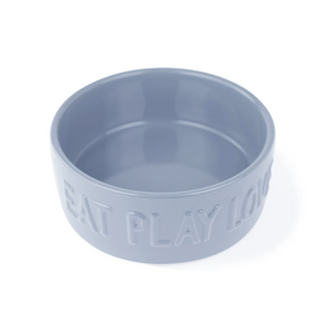 Fringe Studio Eat Play Love Ceramic Food Water Bowl | Accessories | Fringe Studio - Shop The Paws