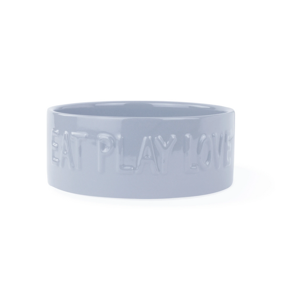 Fringe Studio Eat Play Love Ceramic Food Water Bowl - Accessories - Fringe Studio - Shop The Paws