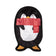 Fringe Studio Unstuffed Holiday Penguin Dog Toy