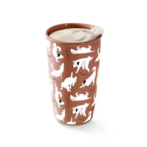 Fringe Studio Namaste Dogs Travel Mug