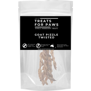 Treats For Paws - Goat Pizzle Braided | Treats | TreatsForPaws - Shop The Paws