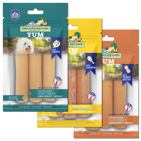 Himalayan Pet Supply - Yum Cheese Dog Chew Medium Density Treats | Treats | HIMALAYAN PET SUPPLY - Shop The Paws