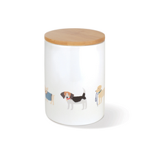 Load image into Gallery viewer, Fringe Studio Happy Breeds Dog Treat Ceramic Jar | Accessories | Fringe Studio - Shop The Paws
