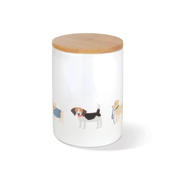 Fringe Studio Happy Breeds Dog Treat Ceramic Jar