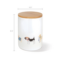Fringe Studio Happy Breeds Dog Treat Ceramic Jar - Accessories - Fringe Studio - Shop The Paws