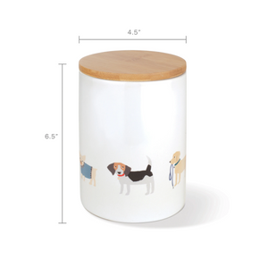 Fringe Studio Happy Breeds Dog Treat Ceramic Jar | Accessories | Fringe Studio - Shop The Paws
