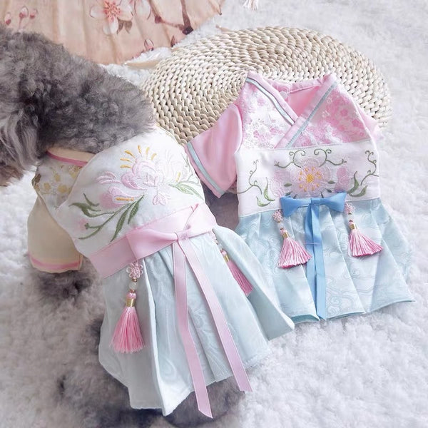 Korean Hanbook Pet Dress | Clothing | shopthepaw - Shop The Paws
