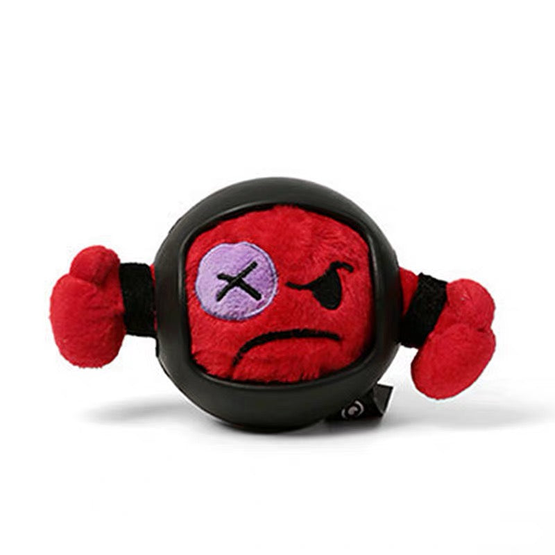Q-monster Nylon Rubber Armour Plush Ball - Toys - Q-monster - Shop The Paws