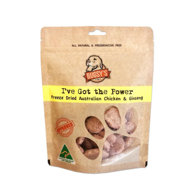 Bugsy's I've Got The Power - Chicken & Ginseng Dog Treats | Treats | Bugsy's - Shop The Paws