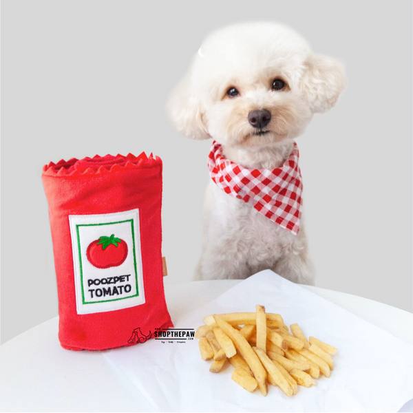 Shopthepaw - Ketchup Tomato Sauce Nose Work Toy