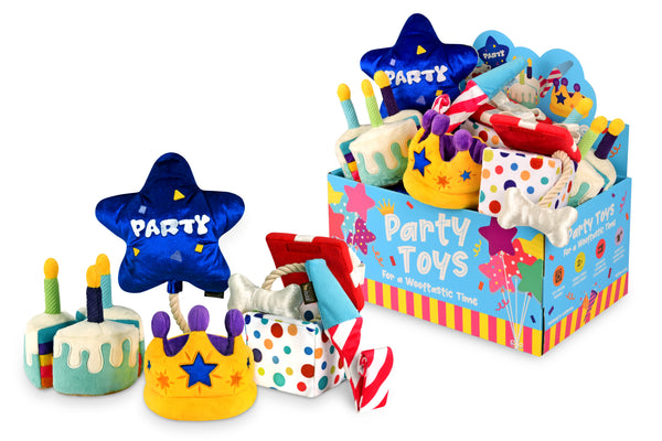 PLAY Party Time Plush Dog Toys | Toys | P.L.A.Y. - Shop The Paws