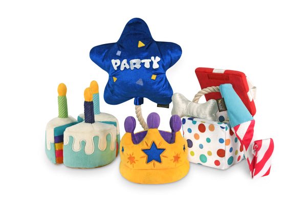 PLAY Party Time Plush Dog Toys