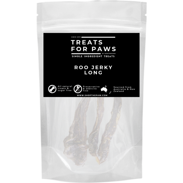 Treats For Paws - Roo Jerky (Chew/Sheet) | Treats | TreatsForPaws - Shop The Paws
