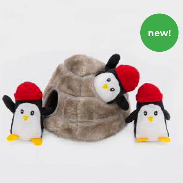 ZippyPaws Holiday Burrow - Penguin Cave | Toys | ZippyPaws - Shop The Paws