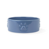 Fringe Studio Sculpt Paw Ceramic Food Water Bowl - Navy | Accessories | Fringe Studio - Shop The Paws