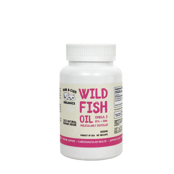 Dom & Cleo Organics Wild Fish Oil Supplement (60 Gelcaps)