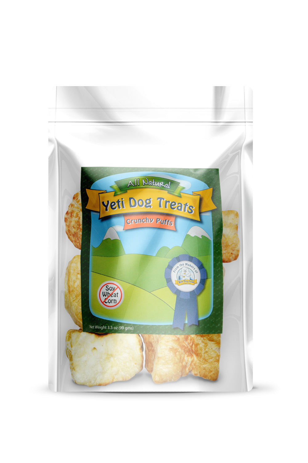 Yeti Dog Treat Crunchy Cheese Puffs (6-8 pieces)