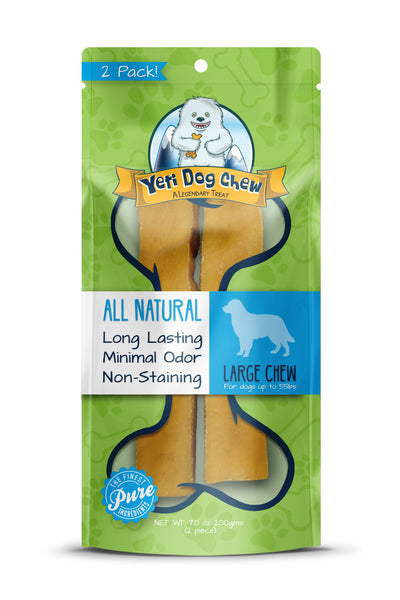 Yeti Dog Himalayan Yak Chew Large 2 pieces | Treats | Yeti Dog - Shop The Paws