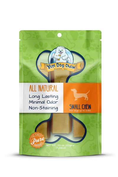 Yeti Dog Himalayan Yak Chew Small 3 pieces - Treats - Yeti Dog - Shop The Paws