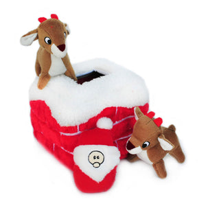 ZippyPaws Holiday Zippy Burrow - Chimney | Toys | ZippyPaws - Shop The Paws