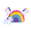 ZippyPaws Burrow Unicorns in Rainbow | Toys | ZippyPaws - Shop The Paws