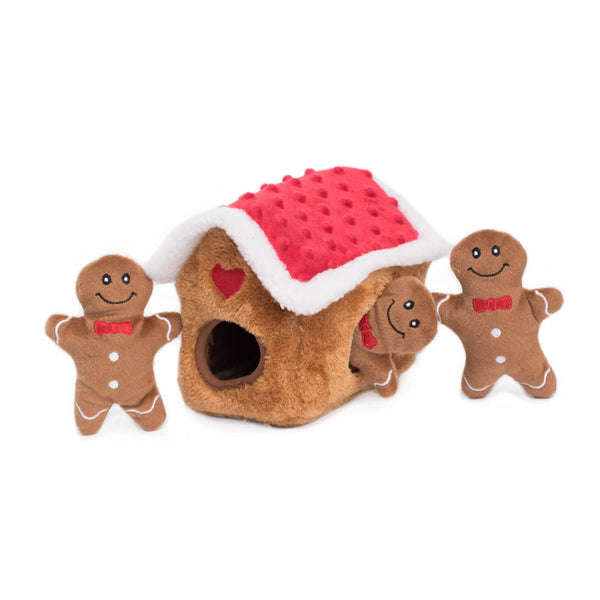 ZippyPaws Holiday Burrow - Gingerbread House | Toys | ZippyPaws - Shop The Paws