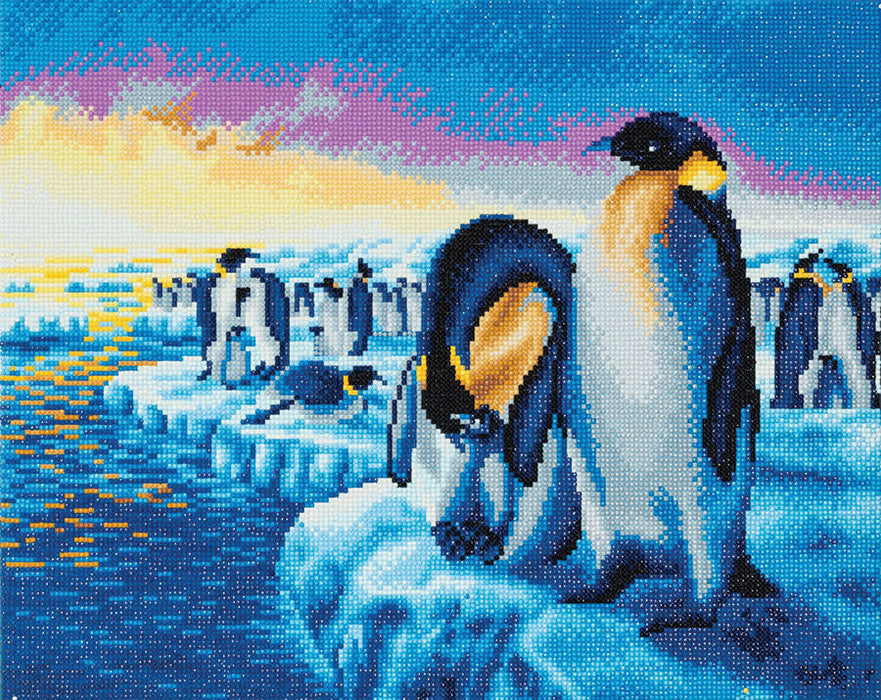 Timanttityö Penguins of the Arctic, 50x40cm