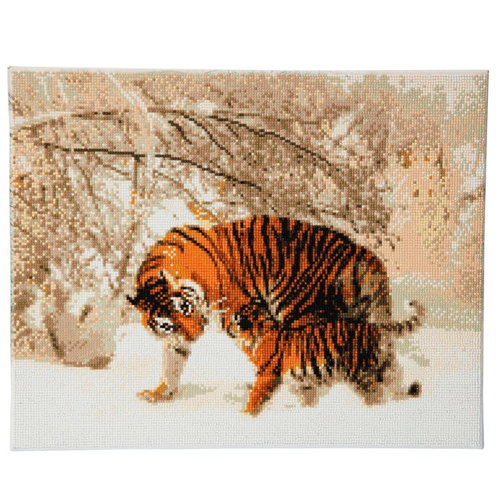 Timanttityö Winter Tigers, 50x40cm