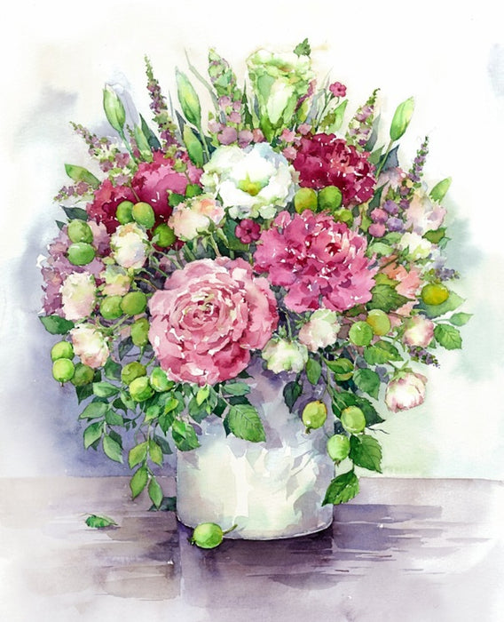 Paint by Numbers - Bright Peonies 40x50cm