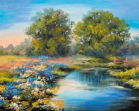 Paint by Numbers - Summer River 50x40cm