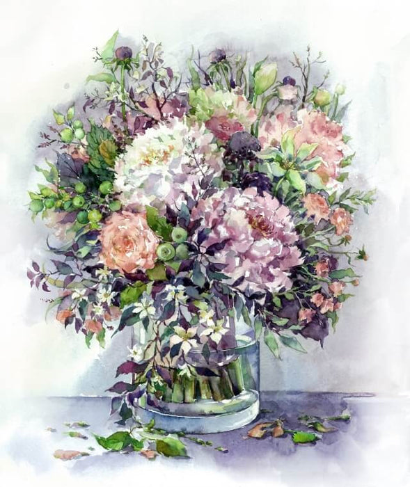 Paint by Numbers - Bouquet with peonies and herbs 40x50cm