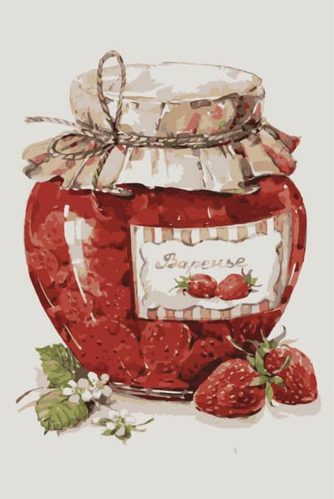 Paint by Numbers - Strawberry Jam 20x30cm