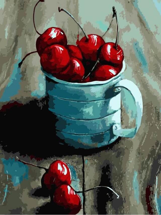 Paint by Numbers - Cherry in a mug 30x40cm