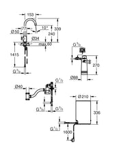 Load image into Gallery viewer, GROHE RED MONO PILLAR TAP AND M SIZE BOILER