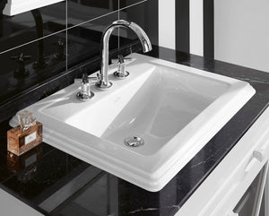 Hommage Built-in Washbasin 630 X 525 mm Star White