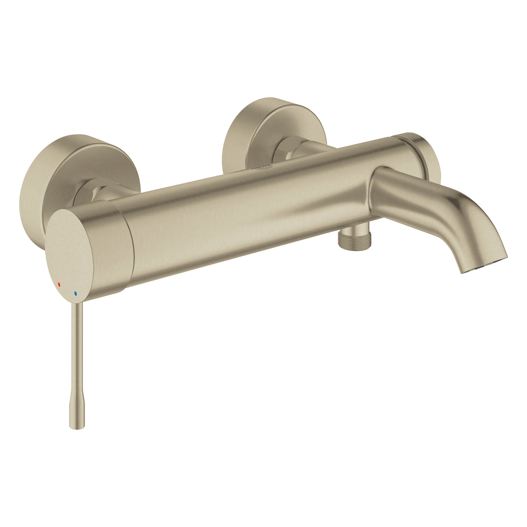Essence Single-lever Bath Mixer Brushed Nickel
