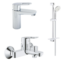 Load image into Gallery viewer, BauLoop Bundle Offer, Basin Mixer + Bath Mixer + Shower Set