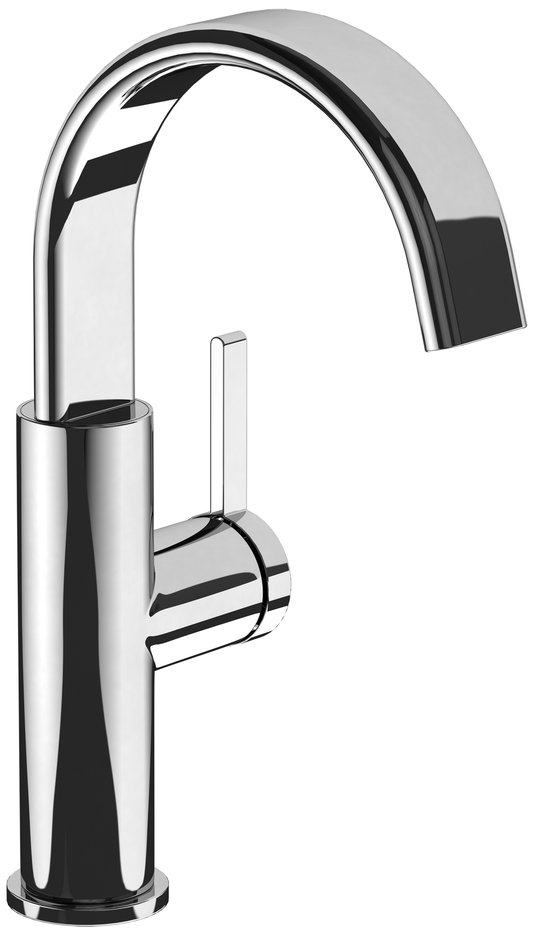 Dawn Side-lever Basin Mixer Polished Nickel