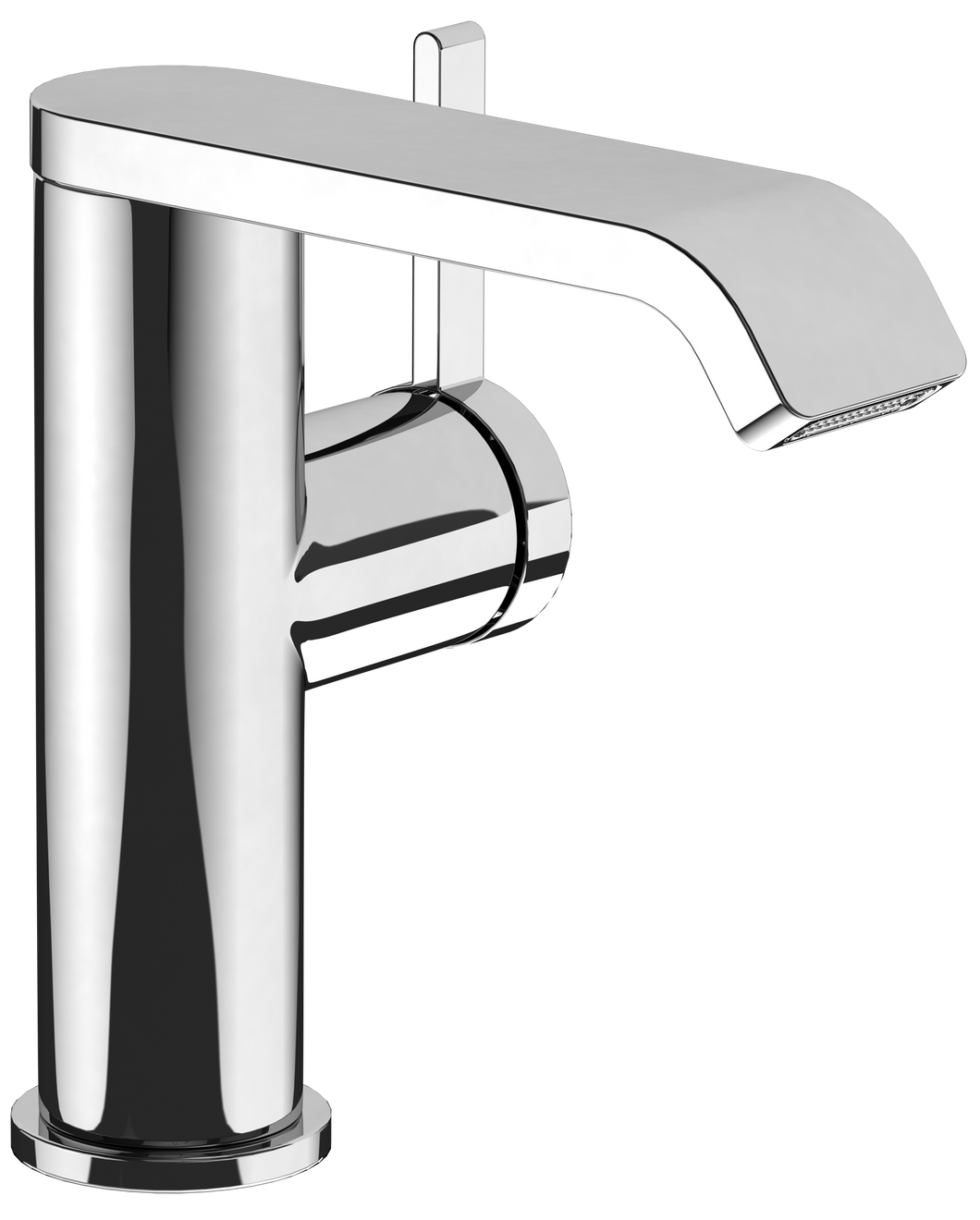 Dawn Side-lever Basin Mixer Brushed Chrome