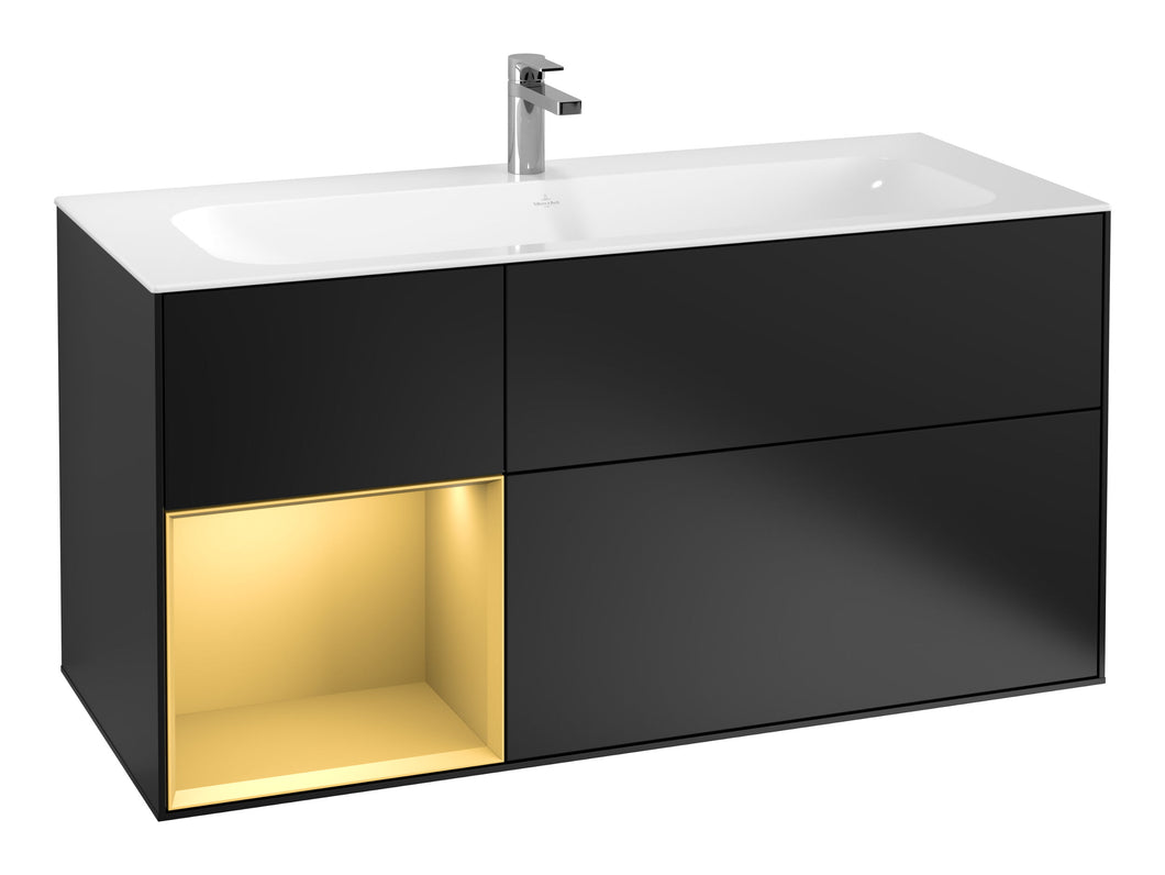 Finion Vanity Unit Gold/Black Matt