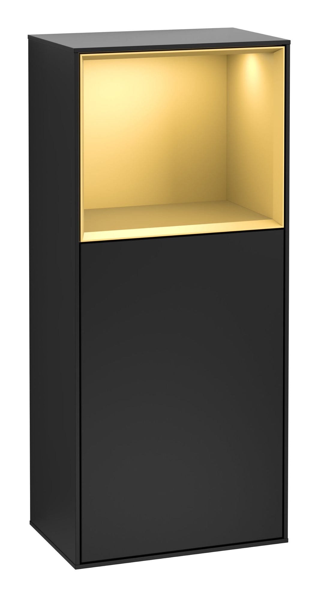 Finion Side Cabinet Gold/Black Matt