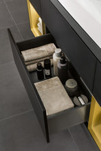 Load image into Gallery viewer, Finion Vanity Unit Gold/Black Matt Lacquer
